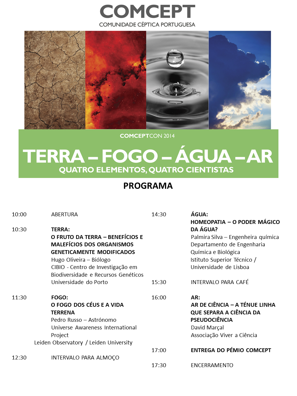 Programa da ComceptCon 2014