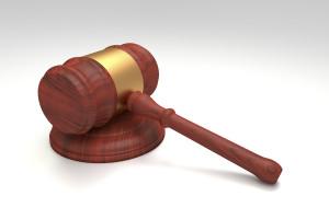martelo de um tribunal