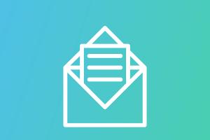 Imagem de um envelope com uma carta
