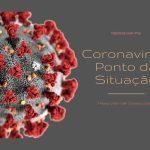 Representação de um coronavirus